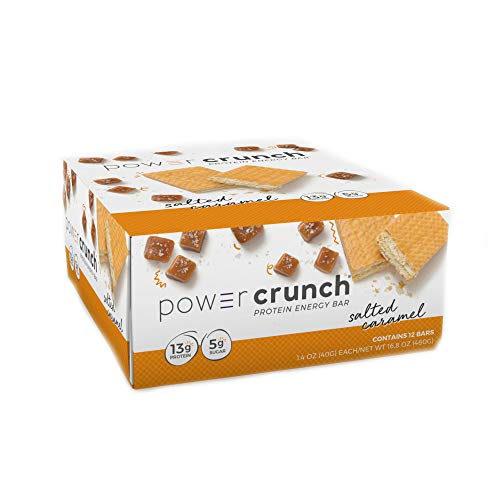 Power Crunch Protein Energy Bar With Balanced Ingredients, Salted Caramel 1.4 Ounce - 12 Count