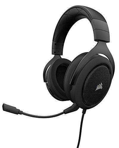 CORSAIR HS60 – 7.1 Virtual Surround Sound PC Gaming Headset w/USB DAC - Discord Certified Headphones – compatible with Xbox One, PS4, and Nintendo Switch - Carbon