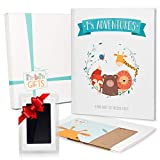 First 5 Years Baby Memory Book + Clean Touch Ink Pad + Gift Box | Baby Photo Album & Baby Journal | Baby Books First Year Memory Book | Modern Baby Shower Gift for Boys & Girls | Scrapbook Design