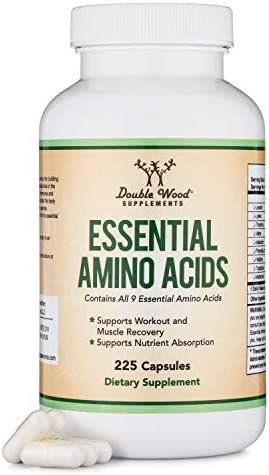 Essential Amino Acids - 1 Gram Per Serving Powder Blend of All 9 Essential Aminos (EAA) and all Branched-Chain Aminos (BCAAs) (Leucine, Isoleucine, Valine) 225 Capsules by Double Wood Supplements 3