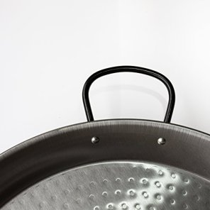 Polished-Steel-Valenciano-paella-pan-165Inches-42cm-10-servings