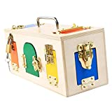 Creative Montessori Colorful Lock Box Kids Educational Preschool Training Toys
