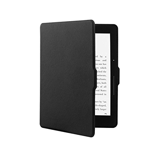 ACdream Kindle Voyage Case, The Thinnest and Lightest Leather Smart Cover Case for Kindle Voyage with Auto Wake Sleep Feature, Black