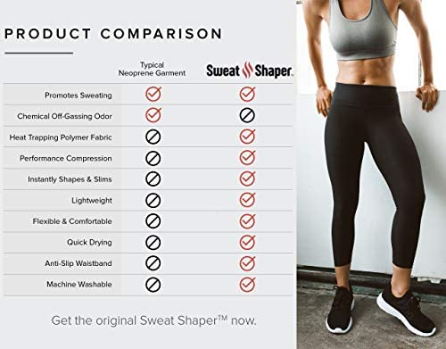 Sweat Shaper Women's Sauna Leggings Compression High Waist Yoga Pants Thermo Sweat Capris 5