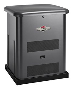 Briggs & Stratton 40510 8kW Standby Generator with 50 Amp 10 Circuit Pre-Wired Transfer Switch, Gray