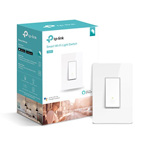 Kasa Smart Wi-Fi Light Switch by TP-Link - Control Lighting from Anywhere, Easy In-Wall Installation (Single-Pole Only), No Hub Required, Works With Alexa and Google Assistant (HS200)