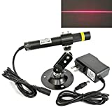 16120 Focusable 648nm 650nm Red LINE Generator Diode Red line Laser Module Laser Level for Sawmill Machine Alignment + mount+ adapter
