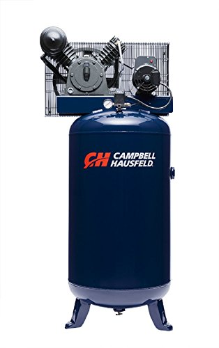 Air Compressor, 80 Gallon Vertical Two Stage 14CFM 5HP 208-230V 1PH (Campbell Hausfeld HS5180)