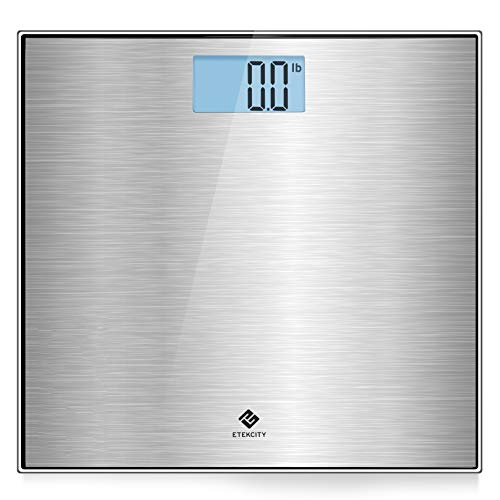Etekcity Stainless Steel Digital Body Weight Bathroom Scale, Step-On Technology, Large Blue LCD Backlight Display,400… 1