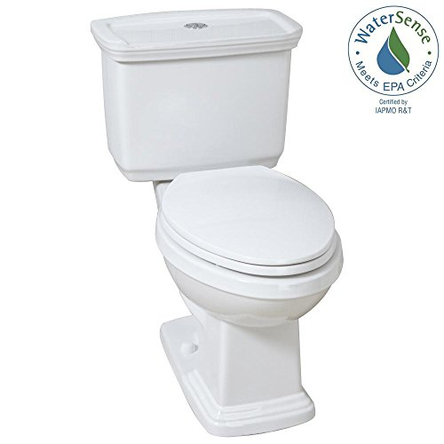 2-piece Dual Flush Elongated Toilet in White