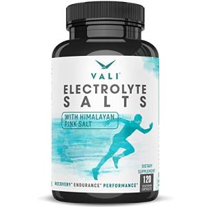 Electrolyte Salts Rapid Oral Rehydration Replacement Pills, Hydration Minerals for Active Fluid Recovery Health – Sodium, Potassium, Magnesium, Calcium, Vitamin D3, Himalayan Pink Salt, 120 Capsules