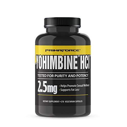 PrimaForce Yohimbine HCl, 270 Count 2.5mg Capsules - Weight Loss Supplement - Supports Fat Loss, Boosts Metabolism