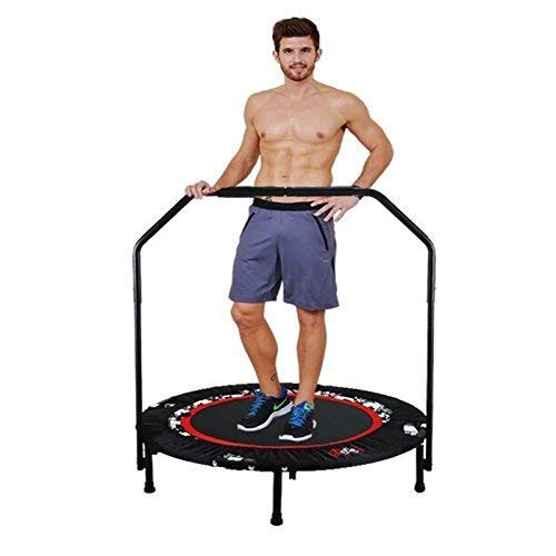 Tomasar 40' rebounders Mini Trampolines, Foldable Fitness Trampoline with Adjustable Handle Indoor Exercise Fitness Mini Trampoline for Adults/Kids (US Stock)