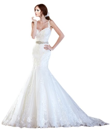 41OY2kQ%2BmSL 15 years focused wedding, quality assurance. Selection of high-grade materials and fine detail processing. Fishtail wedding dress Water soluble flowers