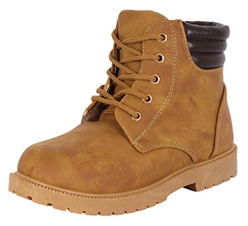 Rugged Bear Boys Lace Up Work Boot Tan 2