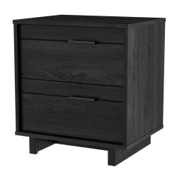 South Shore Fynn 2-Drawer Nightstand-Gray Oak, 0