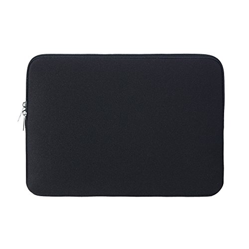 RAINYEAR 14 Inch Laptop Sleeve Case Protective Soft Padded Zipper Cover Carrying Computer Bag Compatible with 14' Notebook Chromebook Tablet Ultrabook (Black)