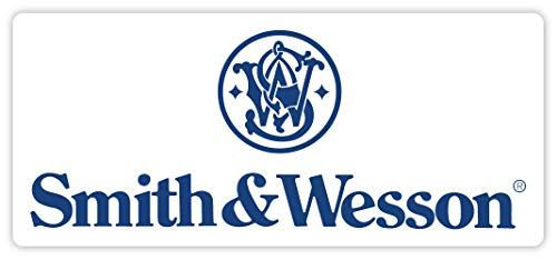 "Smith and Wesson blue slogan sticker decal 5"" x 3"""