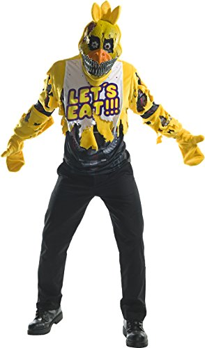 Rubie's Costume Co. Men's Five Nights At Freddy's Deluxe Nightmare Chica Costume, As Shown, Small