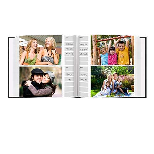 Pioneer-Photo-Albums-DA-200CVR-200-Pocket-Chevron-Embossed-Frame-Leatherette-Photo-Album-4-by-6-Inch-Black