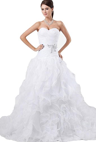 61tTHDXJBmL Organza wedding dresses Built-in bra. Dry clean only Custom-made, Color-change Available