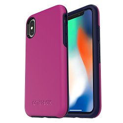 OtterBox SYMMETRY SERIES Case for iPhone X (ONLY) - Retail Packaging - MIX BERRY JAM (BATON ROUGE/MARITIME BLUE)