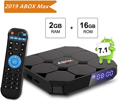 TV Box Android 7.1, [2 g + 16G] Abox A1 MAX 4 K Smart Player TV Box Set Top TV Box Amlogic s905 W 64 bits Quad Core