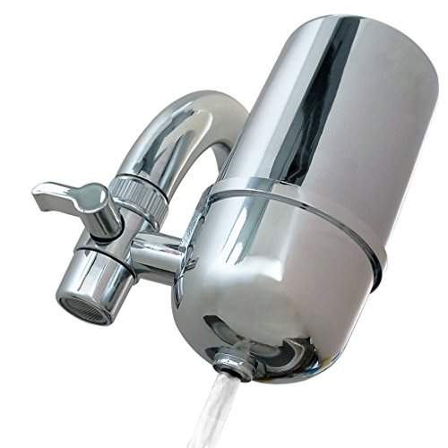 Kabter Faucet Mount Water Filter Tap Water Filtration Purifier,Chrome