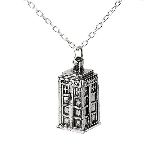 Caetle Cute Love Police Box Doctor Pendant Necklace for Lady Girl women