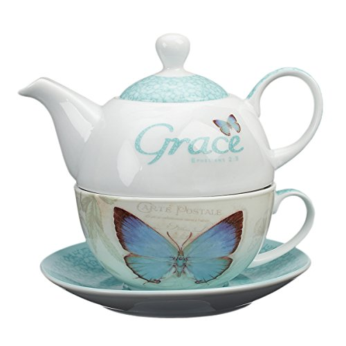 Botanic Butterfly Blessings 'Grace' Tea-for-One Set