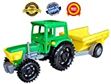 Toy trucks - Kids toys - Construction toys - Farm toys tractor trailer for boys toddlers - Tractor toys - toys vehicles - Tractor car farm toy for toddler - Farm yard baby toys - Farm tractor trailer