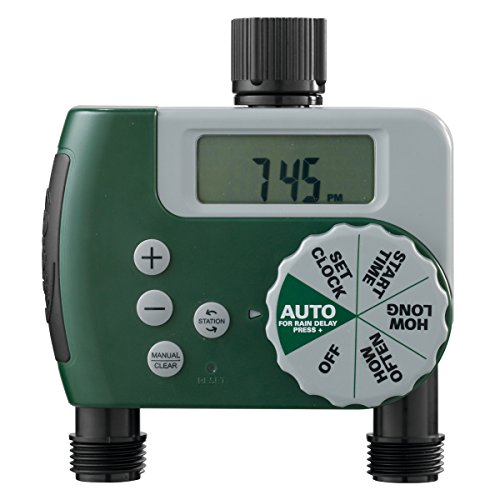 Orbit 58910 Programmable Hose Faucet Timer, 2 Outlet Green