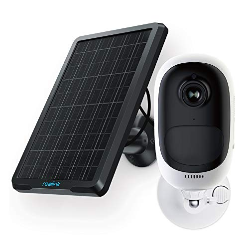 REOLINK Argus Pro+Solar Panel - Rechargeable Battery-Powered Security Camera, Outdoor Wireless, 1080p Full HD Wire-Free Two-Way Audio Night Vision with PIR Motion Sensor and SD Socket