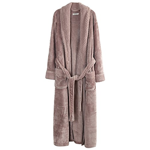 Richie House Women/'s Plush Soft Warm Fleece Bathrobe RH1591-D-L,Nude,Large