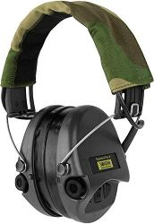 Sordin-Supreme-PRO-X-Active-Electronic-Hearing-Protection-with-Gel-Seals-Camo-Headband-and-Black-Cups