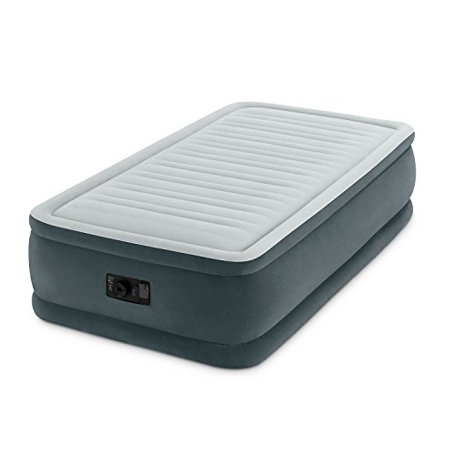 Intex Comfort Plush Elevated Dura-Beam Airbed with Built-In Electric Pump, Bed Height 18'', Twin