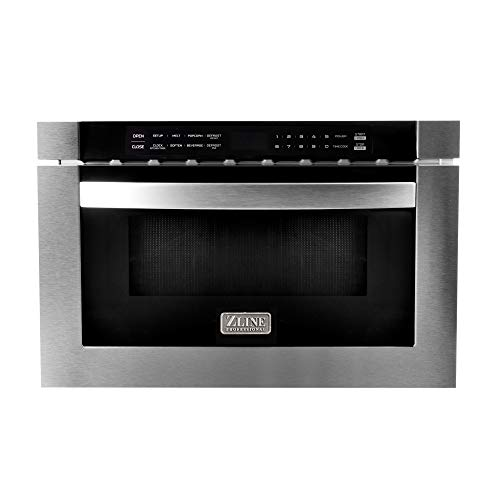 """ZLINE 24"""" 1.2 cu. ft. Microwave Drawer in Stainless Steel"""