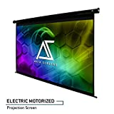 Akia Screens 125' Motorized Electric Projection Screen 16:9 8K 4K Ultra HD 3D Ready Wall/Ceiling Mounted with 12V Trigger Remote 8K 4K Ultra HD 3D Ready for Home Movie Theater AK-MOTORIZE125H