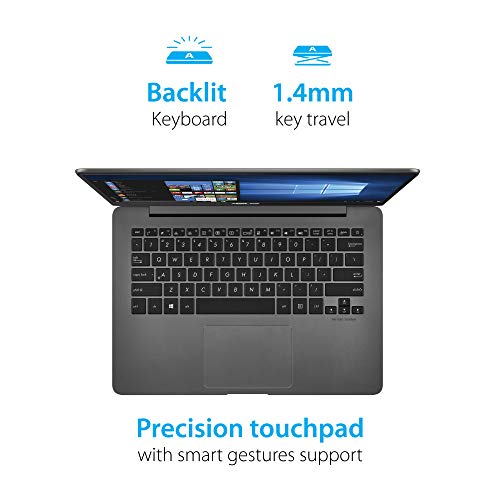 ASUS ZenBook UX430UA-GV307T Intel Core i5 8th Gen 14-inch FHD Thin and Light Laptop (8GB RAM/256GB SSD/Windows 10/Integrated Graphics/1.30 kg), Grey 6