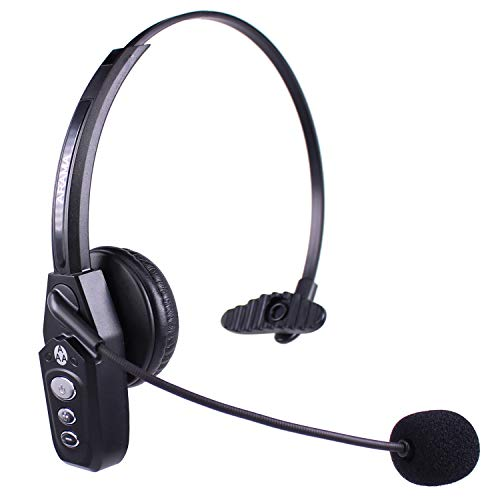 Arama JBT800 Trucker Bluetooth Headset, Noise-Canceling Bluetooth 5.0 Headset for Truck Driver, Call Center, Office, Gamers