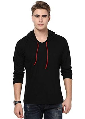 Katso Mens Cotton Hooded T-Shirt