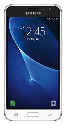 Samsung Galaxy J3 J320A Unlocked Smartphone, 16GB, 1.5GB RAM, U.S. Warranty (White)