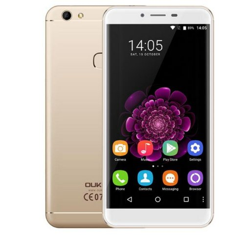 Oukitel U15S 5.5 inch 4GB RAM 32GB ROM Android 6.0 MTK6750T Octa Core 13.0MP 4G LTE Fingerprint Cellphone Smartphone Golden