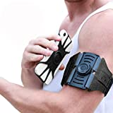 VUP Running Armband [All Screen Friendly, Detachable & 360°Rotatable] for iPhone Xs Max/Xs/XR/8 Plus/7 Plus/6s Plus/6, Galaxy S10 Plus/ S9 Plus/ S8/ A8 Plus, Note 4/5/8/9, Google Pixel 3/2 XL-Black