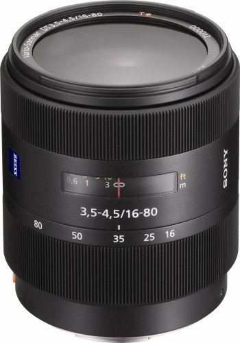 Sony 16-80mm f/3.5-4.5 Carl Zeiss Vario-Sonnar T DT Zoom Lens for Sony Alpha Digital SLR Camera