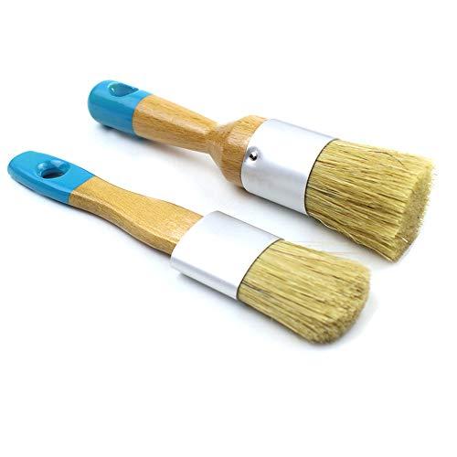 MAXMAN Small Chalk & Wax Paint Brush Set for Chalk Painting,Furniture,Folk Art,Home Decor