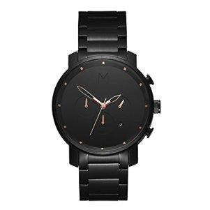 MVMT Chrono Watches | 45 MM Men's Analog Watch Chronograph | Black Rose Link