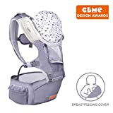 Bable Baby Carrier with Hip Seat, 6-in-1 Convertible Carrier, 360 Ergonomic Baby Carrier Backpack, Cool MESH for Spring and Summer - for 8-33lbs - Baby Wrap Carrier, (Light Gray)