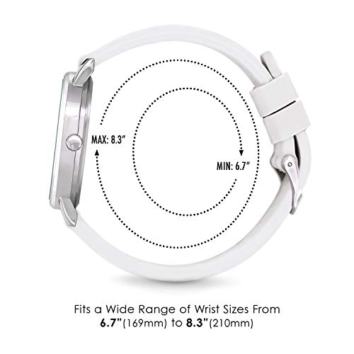 Speidel Scrub 30 Look ahead to Medical Professionals with Scrub Matching White Silicone Band, Pulsometer, Date Window, Straightforward to Learn Dial, Second Hand, Army Time for Nurses, Medical doctors, College students deal 50% off 41PW7uiwr1L