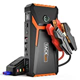 TACKLIFE T8 800A Peak 18000mAh Car Jump Starter (up to 7.0L Gas, 5.5L Diesel engine) with LCD Screen, USB Quick Charge, 12V Auto Battery Booster, Portable Power Pack with Built-in LED light